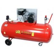 Kompresor olejowy dwutłokowy jednostopniowy 270 litrów Pompa ABAC B-3800B 230V