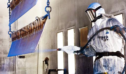 Advanced powder paint shop